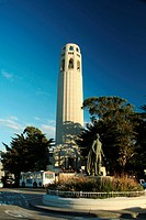 Coit Tower on Telegraph Hill in San Francisco, California, USA