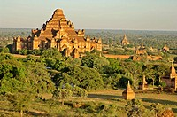 the ancient temple city of Pagan, Bagan at Myanmar, Burma, Birma