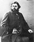 Gustave Courbet (1819 - 1877), French painter. Photograph by Nadar