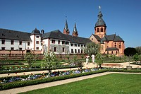 geography/travel, Germany, Hesse, Seligenstadt, churches, Einhard Basilica, built: circa 831, exterior view, former Benedictine abbey, Europe, archite...