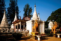 geography / travel, Thailand, Lampang, buildings, temple Wat Chedi Sao, several chedis, exterior view, Asia, temple of twenty chedis, chedi, architect...