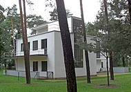 geography / travel, Germany, Saxony_Anhalt, Dessau, buildings, houses, built: 1920s by Walter Gropius, Ebertallee 65 _ 71, exterior view, Europe, Saxo...