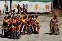 geography / travel, Bhutan, tradition / folklore, Dance of the terrifying Deities, monastery celebration, Haa, South Asia, religion, Buddhism, costume...