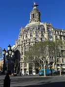 geography / travel, Spain, Barcelona, street scenes, Passeig de Gracia, Europe, Catalonia, buildings,