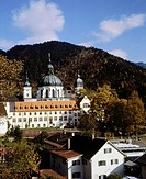 architecture, churches and monasteries, Germany, Ettal Monastery, exterior view, 1980s, historic, historical, 20th century, 80s,