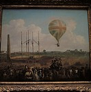 transport / transportation, aviation, balloon, George Biggins advancement in Lunardis balloon, Artillery Ground, London, 29.6.1785, painting by Julius...