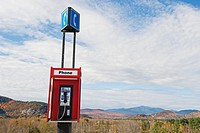 Pay phone by the side of the road, New Hampshire