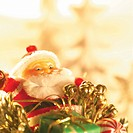 Santa Claus Figurine and Christmas decorations