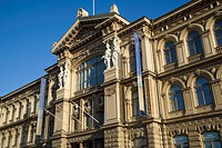 Finland, Helsinki, main entrance of the Ateneum Art Museum