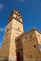 Belltower of cathedral, Salamanca. Castilla-Leon, Spain