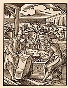 Bricklayer. Engraving by Jost Amman (1568)