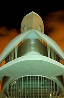 Opera Palau de les Arts Reina Sofia, architect Santiago Calatrava, City of Arts and Sciences, Valencia, Spain