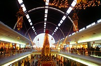 Calais France Cite Europe Christmas Lights In Shopping Mall