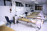 Empty Examination Tables