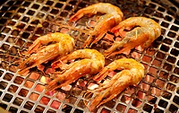 Shrimps on the barbecue