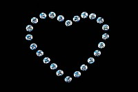 Diamonds in heart shape