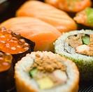 Still Life of Various Sushi