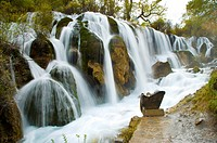 China, Sichuan Province, Nine Village Valley, Shuzheng Waterfall