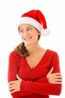 Frau als Weihnachtsmann