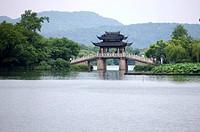 Scenery of West Lake in Hangzhou, Zhejiang Province