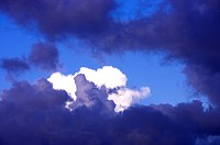 Clouds in the moody sky