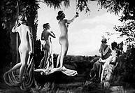 Film, Wege zu Kraft und Schönheit _ Ein Film über moderne Körperkultur, Deut. 1926, Regie: Nicholas Kaufmann & Wilhelm Prager, Szene, Urteil des Paris...