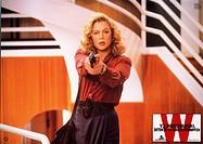 C Film, V.I. Warshawski Detektiv in Seidenstrümpfen V.I. Warshawski, USA 1991, Regie: Jeff Kanew, Szene mit: Kathleen Turner, ORIGINAL AUSHANGBILD Hal...