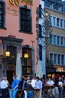 Germany, Rhineland_Westphalia, Cologne, Buttermarkt, Cafes