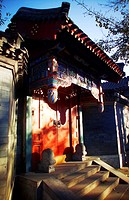 Exquisite Chuihua Gate of a courtyard house in Heizhima Hutong, Beijing, China