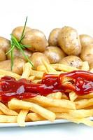 Kartoffeln und Pommes Frites