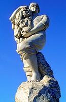 Fischer_Denkmal in Cassis, Provence, Frankreich / fishermens monument in Cassis, Provence, France