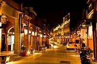 Illuminated traditional street in Sanxia Town, Taipei County, Taiwan