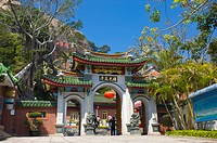 Asia, China, Fujian, Xiamen, Gulangyu, Sunlight Rock Temple