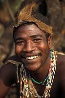 Hadza man, Lake Eyasi, Tanzania.Small tribe of hunter_gatherers