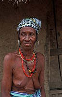 Bedik woman, Iwol, Bedik village, Bassari country, Senegal