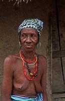 Bedik woman, Iwol, Bedik village, Bassari country, Senegal