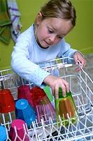 Dishwasher litle girl.
