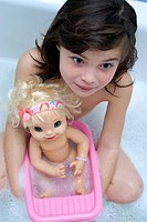 Little girl bath doll