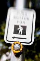 push-button-to-walk sign and button