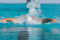 Swimmer doing butterfly stroke (thumbnail)