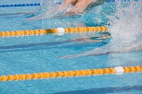 Australian swimmers in swimming competition