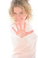 Woman gesture