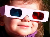 Little girl 3D glasses