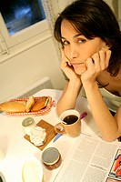 Woman breakfast