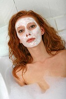 Woman beauty mask
