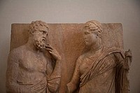 Details of grave relief, National Archaeological Museum of Athens, Athens, Greece
