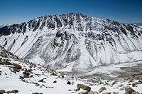 Low angle view of a mountain, Khardung La, Ladakh, Jammu And Kashmir, India