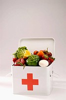First aid box  Fruits  Vegetables
