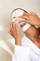 Woman facial mask.