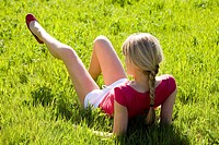 Woman nature relaxing